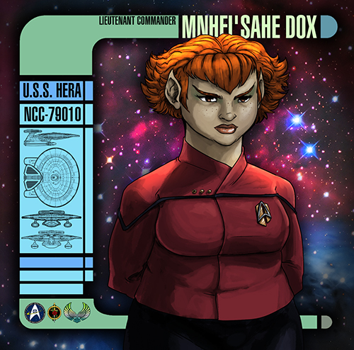 Lieutenant Commander Mnhei'sahe Dox